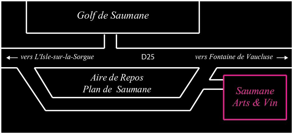 Plan acces Saumane Arts Vin