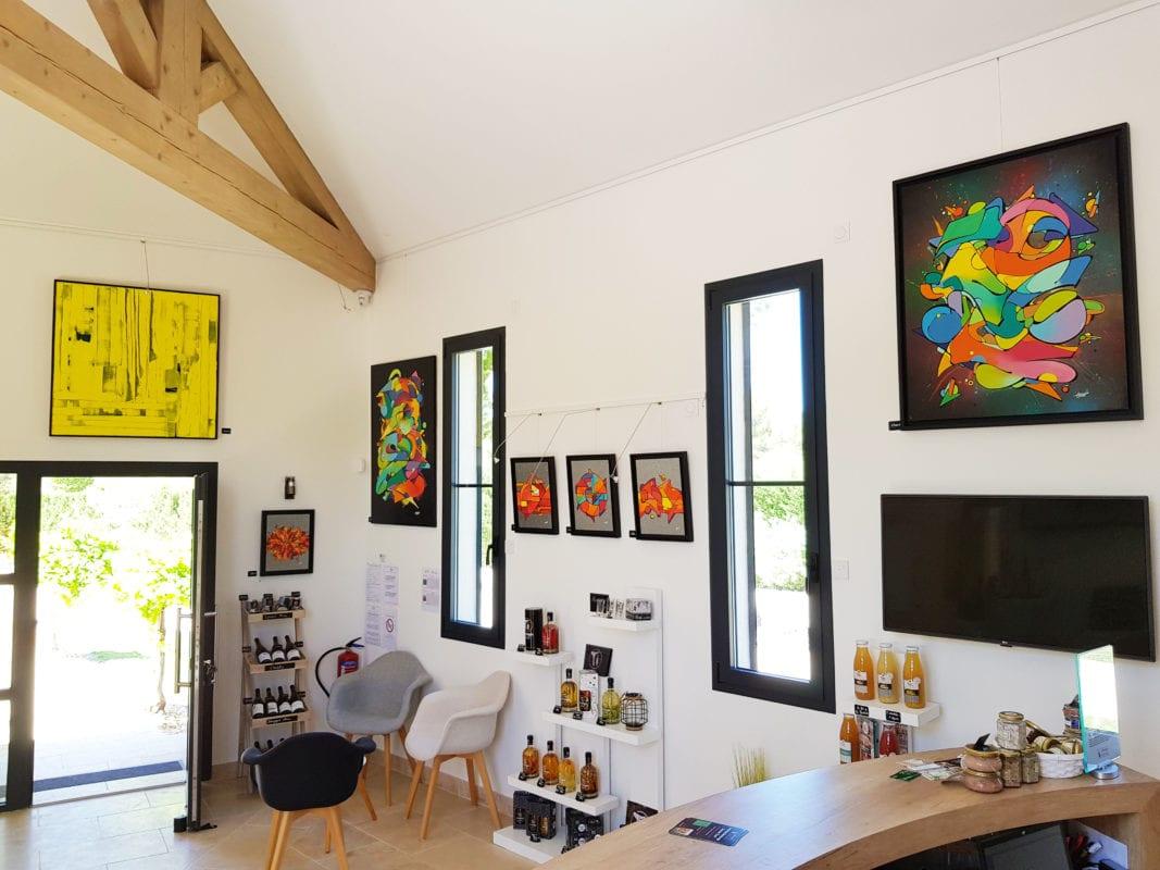 Galerie mur droite juillet 2019