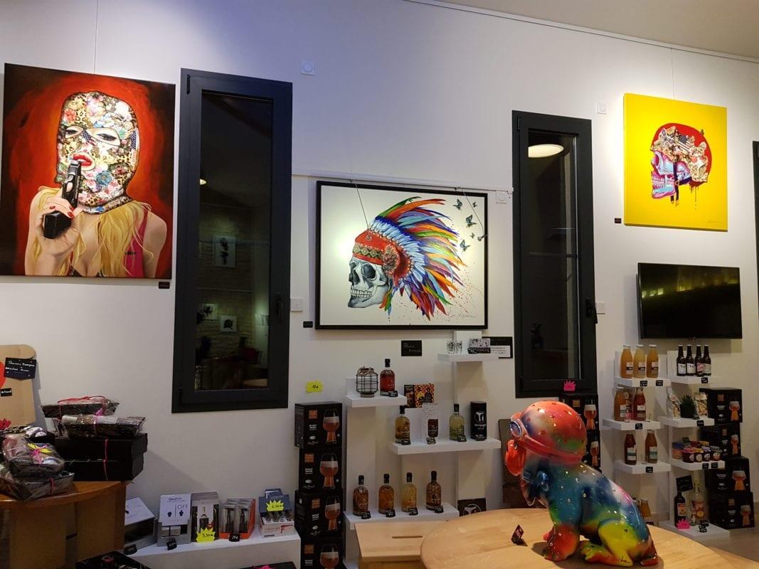 Galerie expo Laurence Chiche mur de gauche