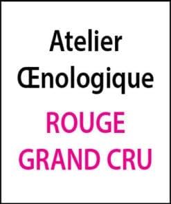 Atelier oenologique Rouge Grand Cru arts et vin 2