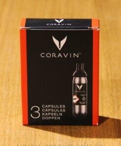 Capsules Argon Coravin Pack de 3