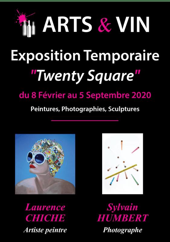 Flyer recto vernissage fev 2020 twenty square nouvelles dates