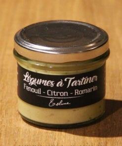 Legumes a tartiner fenouil citron romarin Maison Telme