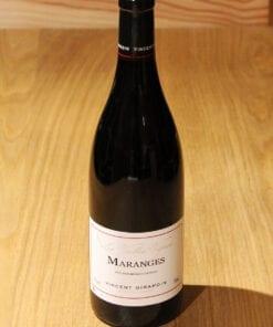 bouteille Maranges Vincent Girardin sur table en bois