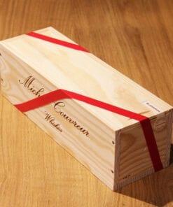 coffret bois Whisky Blossoming Auld Sherried Michel Couvreur sur une table en bois