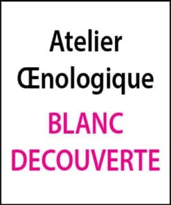 atelier oenologique Blanc Decouverte arts et vin 2