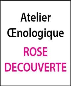 atelier oenologique Rose Decouverte arts et vin 2