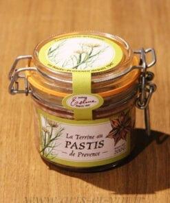 Terrine au Pastis de Provence 200g Maison Telme sur table en bois