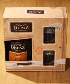 Rhum Depaz VSOP coffret 2 verres