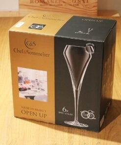 Coffret 6 flutes champagne open up 20cl
